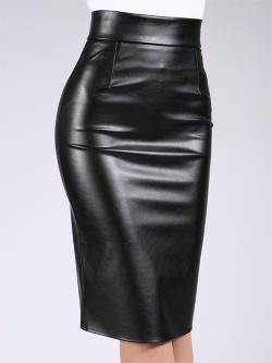 Юбка PENCIL SKIRT leather 01