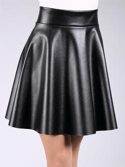 Юбка MINI SKIRT leather 01